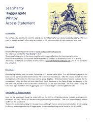 100 Westcliff Park Apartments Sea Shanty Haggersgate Whitby Access Statement