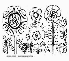 Free Printable Summer Flowers Coloring Pages Pictures
