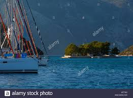 100 Molos Sailboat And An Islet In The Gulf In Ithaca Island Greece