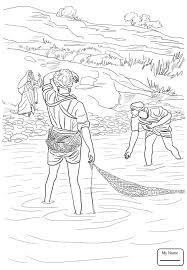 Coloring Pages Christianity Bible Saint Peter Jesus Calls And Andrew