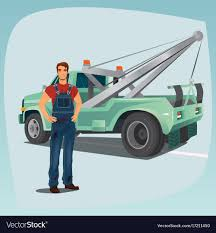 100 Truck Tow Truck Operator And Pickup Wagon Royalty Free Vector