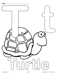 Uppercase And Lowercase Letter Tt Coloring Page