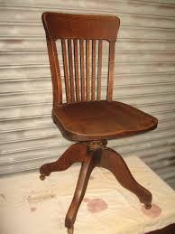 Oak Swivel Office Chair - Antiques Atlas
