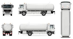 100 Tank Truck Vector Mockup Isolated Template Of Er Lorry
