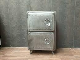 schrank industrie metall highboard anthrazit kommode wohnzimmer
