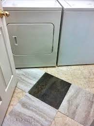 Peel N Stick Tile Floor by Transform A Laundry Room Floor With Peel And Stick Tiles Diy