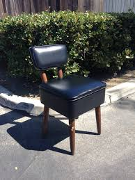 Modern Vanity Chairs For Bathroom by Sold Mid Century Danish Modern Vanity Chair Black Faux Leather