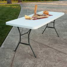 Sofa Snack Table Walmart by Lifetime 6 U0027 Fold In Half Table White Granite Walmart Com