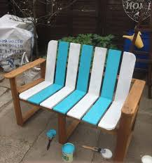 Plans For Pallet Patio Furniture by Hand Painted Pallet Bench Ideas