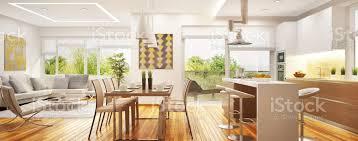 luxuriöses modernes wohnzimmer mit küche in einem raum stockfoto und mehr bilder architektur