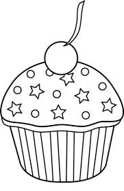 Cupcake black and white black and white cupcake clipart