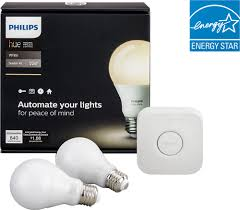 philips hue a19 60w equivalent wireless starter kit white 455287