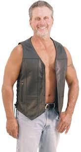 men u0027s premium 10 pocket leather vest w gun pockets vm630pt