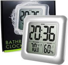 thermometer wetterstationen große wasserdichte wanduhr