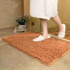 Chenille Carpet by Alytimes Camel Color Anti Slip Microfiber Carpet Kitchen Area Rug