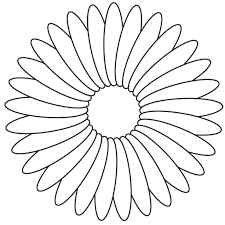 Flower Coloring Pages A Single Within Print Out Best Of