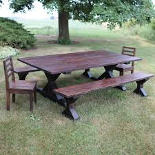 Trestle Farmhouse Table Barn Wood X-Style Legs Benches And   Etsy Farmhouse Table Emmworks Brand New Shaker Bench Set With Refurbished Farmhouse Chairs Monika S Custom Rustic And Chair Order Trestle Barn Wood Xstyle Legs Benches Etsy Glenview Ding 4 Side Chairs At Gardnerwhite Painted With Black Color Paired And Classic Fan Ecustomfinishes 34 Off Wayfair Urban Outfitters Farm 7ft Pedestal Long Metal Fruitwood Farm Chair Houston Tx Event Rentals Bolanburg 6 Piece Rectangular