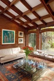 Rustic Living Room With Brick Walls