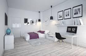 Orange Graphics Scandinavian Bedroom Themes