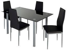 table et 4 chaises ensemble table 4 chaises featuring coloris noir vente de