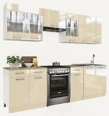 küche marta creamelack küchenzeile küchenblock einbauküche