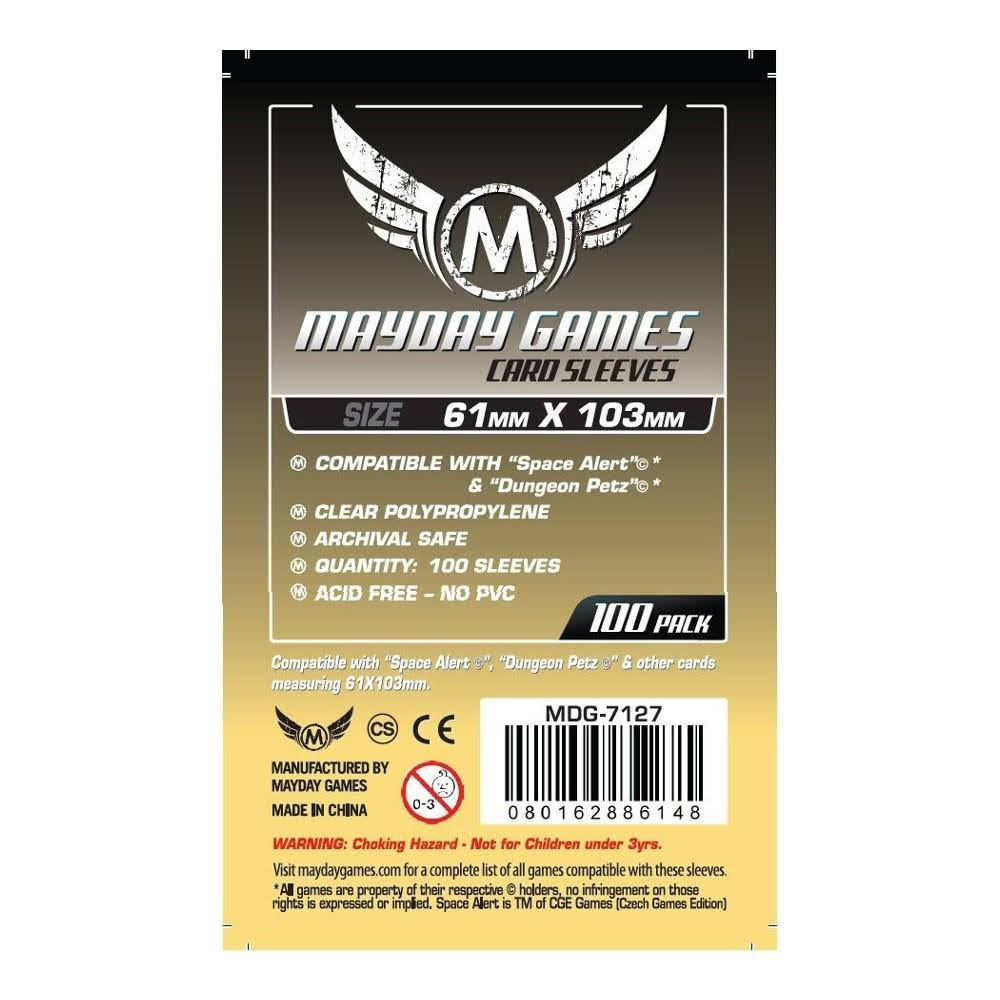 Mayday Games Card Sleeves - 61 x 103 mm, 100 Pack