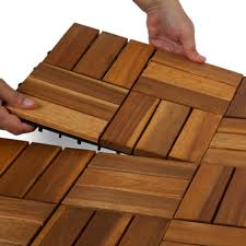 hardwood acacia deck tiles garden winds