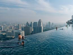 100 Infinity Swimming The Pool Of Marina Bay Sands Overlooking The Entire