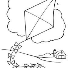 Kite Coloring Pages For Kids AZ