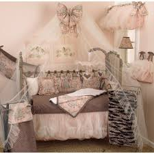 Pink Crib Bedding by Cotton Tale Designs Nightingale Pink Floral 4 Piece Crib Bedding