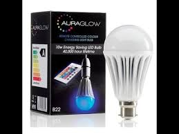 auraglow color changing light bulb review