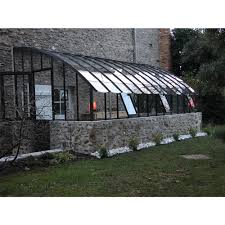 jardimagine serre adossée chambord sur muret l5 30xp2 80 m lams