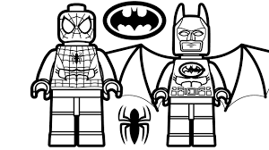 Lego Spiderman And Batman Coloring Book Pages Kids