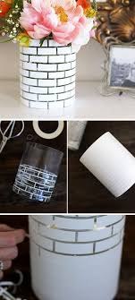 Tutorial White Brick Vase DIY