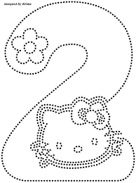 Hello Kitty Number 2 Trace Worksheet Worksheets