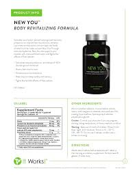 It Works New You Body Revitalizing Formula These Statements Have Not Been Evaluated By The Food And Drug Administration