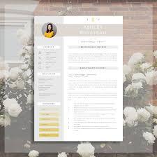 Modern Resume Design | Creative Resume Template | Resume + Cover Letter &  Advice | Printable Word Resume |