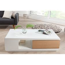 table basse blanche en bois table basse noir et bois trendsetter