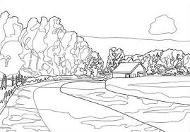 Drawing Landscapes Coloring Pages
