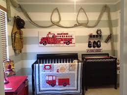 Vintage Fire Truck Decor Fireman Bedroom Accessories Wall Art Engine ...