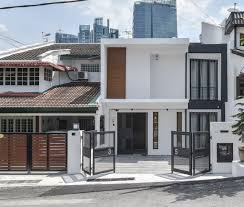 100 Terraced House Designs Modern Malaysian Terrace House Exterior Design In 2019