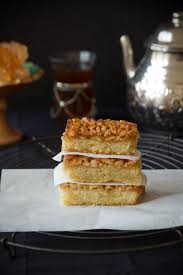 malake badam butter kuchen mit safranmandeln ملکه بادام