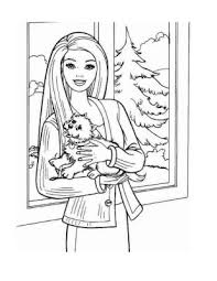 Coloring Pages Girls On Barbie Dolls Sheets For Kids