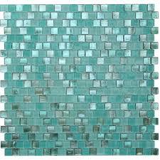 kellani opal 0 63 x 0 63 glass mosaic tile in biscayne bay