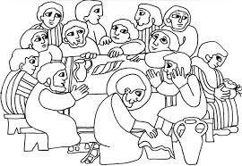 Holiday Coloring Pages Jesus And Disciples Page Lavanda Dei Piedi Da Colorare