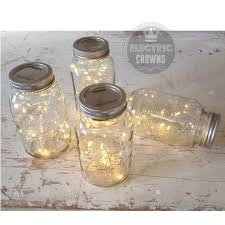 Mason Jar Lights Rustic Wedding Decorations Vintage Reception Centerpiece Not Included