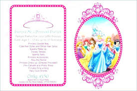 Pamper Party Invitations Invitation Template Disney Princess Birthday Templates Templat