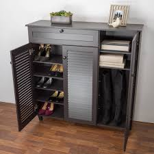 Simms White Modern Shoe Cabinet by Furniture Modern Shoe Bench Shoe Towers Baxton Shoe Cabinet