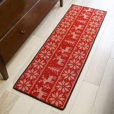 Christmas Red Bathroom Rugs by Online Store Tidetex European Style Christmas Elk Pattern Kitchen