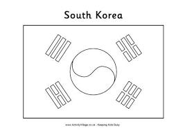 South Korea Flag Coloring Page